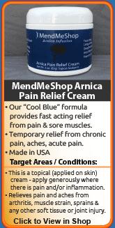 MendMeShop Arnica Pain Relief Cream