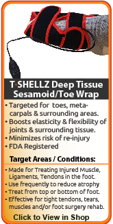 Advanced relief from intermetatarsal bursitis, sesamoiditis, metatarsalpholangeal bursitis