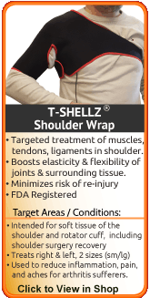 TShellz Wrap Shoulder - an advanced treatment for shoulder injury and rotator cuff injury