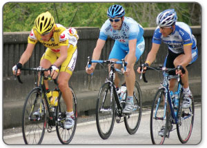 Cyclists often injure their achilles tendon