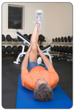 After your tendon is warmed up your physical therapist will guide you through stretches to improve mobility.